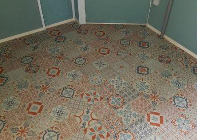 Peter Dob, stoffering, PVC vloeren